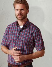 Men´s Sidehill Check Long Sleeve Cotton Shirt