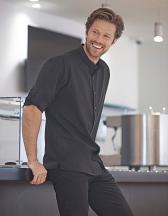 Men´s Mandarin Shirt Roll Tab Sleeve