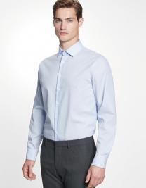 Men´s Shirt Shaped Fit Check/Stripes Long Sleeve