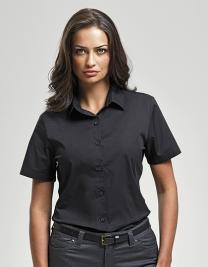 Ladies Stretch Fit Cotton Poplin Short Sleeve Shirt