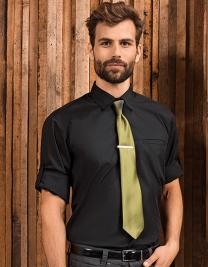 Mens ´Roll-Sleeve´ Poplin-Hemd