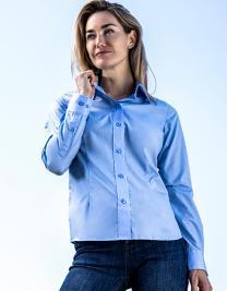 Women`s Poplin Shirt Long Sleeve