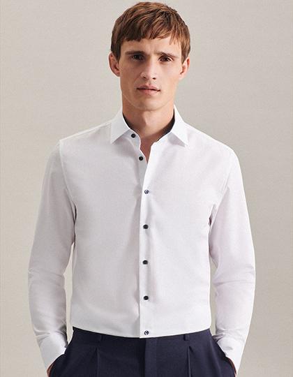 Men`s Shirt Poplin Slim Fit Longsleeve